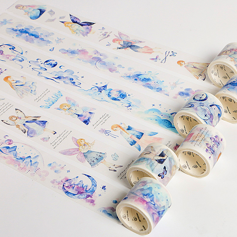 Kawaii Butterfly Fairy Song Japanese Washi Tape Adhesive Tape DIY Scrapbooking Sticker Label Masking Tape