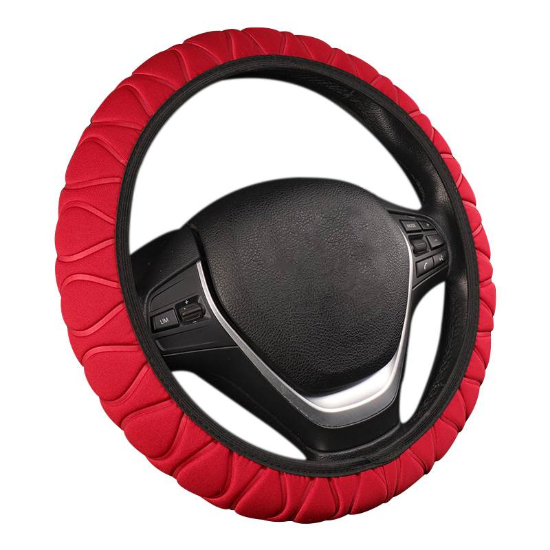 Car Steering Wheel Cover Braided Wheel Handle Ice Silk Set Sponge Car Protector Universal Inner Ring Steering Wheel Cover Car(China)
