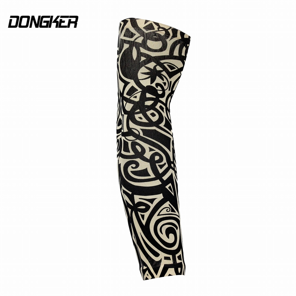 Dongker sunscreen arm sleeves cool elastic breathable for Best sunblock for tattoos