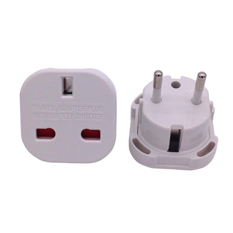New Universal 2 Pin AC Power Plug Adaptor Connector Travel Power Plug Adapter UK to EU Adaptor Converter Wholesale-in International Plug Adaptor from Consumer Electronics