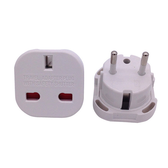 New Universal 2 Pin AC Power Plug Adaptor Connector Travel Power Plug Adapter UK to EU Adaptor Converter Wholesale