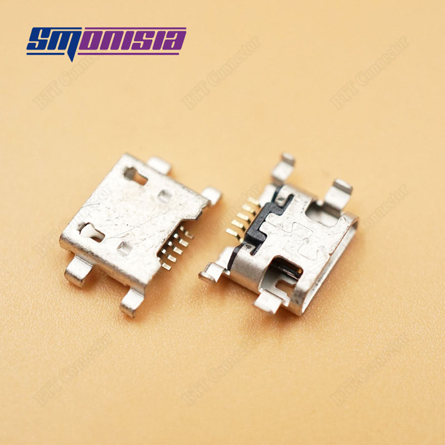 Smonisia 20pcs Micro USB 4 Foot 5Pins Tail charge Jack for cool pads 8722 Micro USB Data Jack