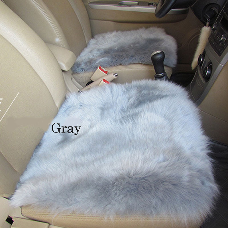 WOOL SEAT COVER GRAY