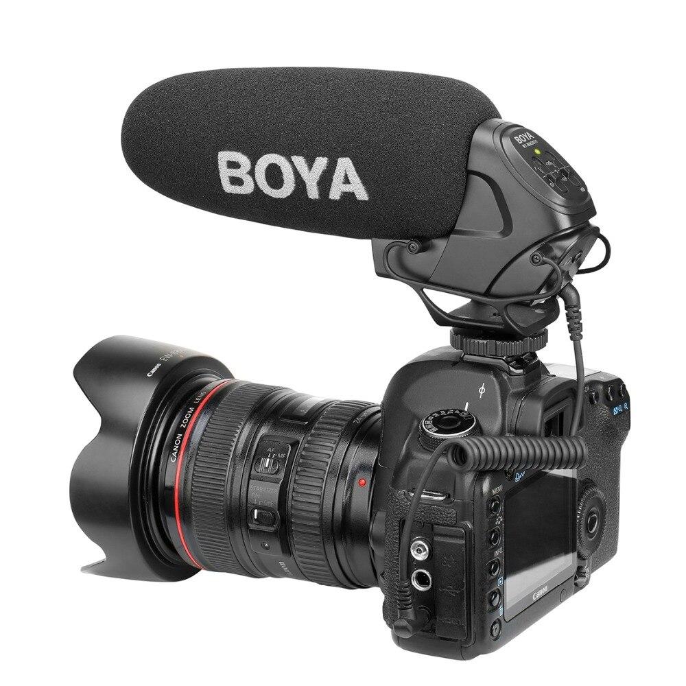 BOYA BY-BM3031 Supercardioïde Condenseur Entrevue Capacitif Microphone Caméra Vidéo Mic pour Canon Nikon Sony DSLR Caméscope