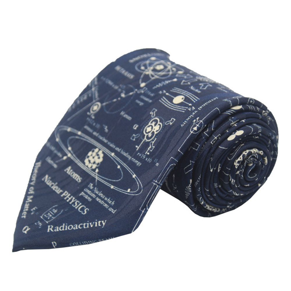 Match-Up New Polyester Print Science Elements Casual Men's Tie Cartoon Tie Bowtie  Fashion Casual Printed Ties For Men Wedding