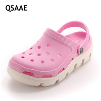 2017New Women Authentic Warrior Hole Slippers Couple Sandals Mules And Clogs Garden Shoes For Unisex Breathable