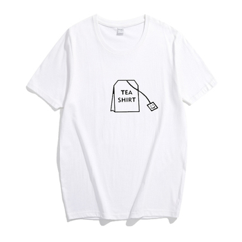 Kpophome Hot trend new Tshirts smile tea bag pattern round neck men and women same paragraph tshirts bts taehyung warriors