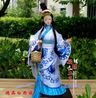 Master hand-drawn doll furnishing articles four most beautiful women silk special present beauty girl women ceramic arts crafts