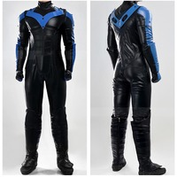Cosplay Costume Batman Arkham City Costume Movie Nightwing Cosplay Full Set Jumpsuit Halloween Carnival Costume