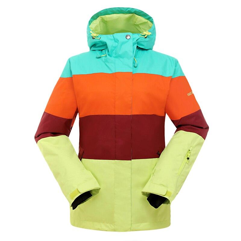 GSOU SNOW Women Waterproof Ski Jacket Snowboarding Jacket Snow Clothing Windproof Breathable GSWJ002 brand gsou snow technology fabrics women ski suit snowboarding ski jacket women skiing jacket suit jaquetas feminina girls ski