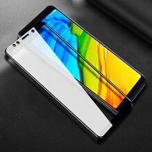 Xiaomi Pocophone 용 6D 풀 커버 강화 유리 F1 Mi A2 Lite 8 SE 레드 미 노트 5 프로 노트 5 인도 글로벌 5 플러스 스크린 프로텍터