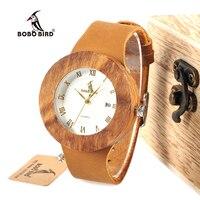 Bobobird M007 Mens Top Brand Design Luxury Full Wooden Quartz Watch Japan 2035 Miyota Movement Bamboo
