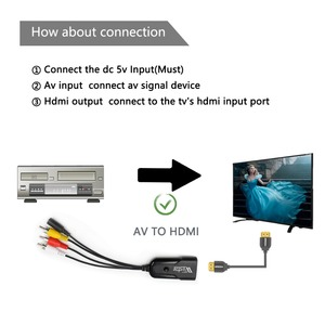 Image 4 - 1080P Composite AV RCA to HDMI Video Converter Adapter Full HD 720/1080p UP Scaler AV2HDMI for HDTV Standard TV