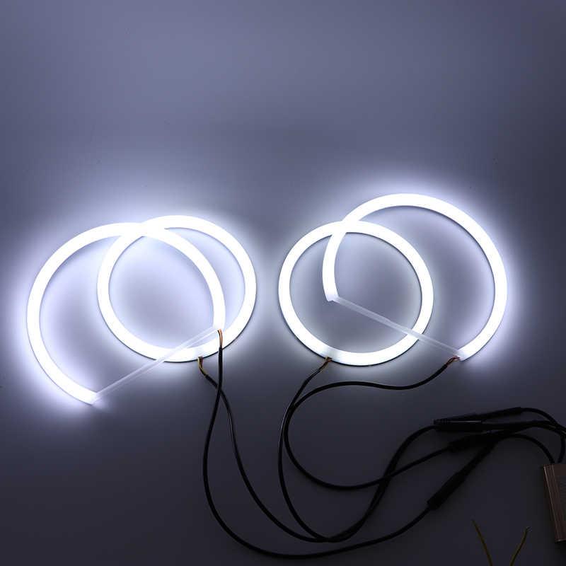 BMW 3 serisi için E90 05 '-08 halojen far beyaz ve Amber çift renk pamuk LED melek gözler kiti ışık halkası DRL dönüş sinyal ışığı