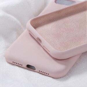 Image 2 - Original Silikon Fall Für iPhone X Luxus Flüssigkeit Abdeckung Für iPhone XR XS Max 7 8 Plus 6 6 S plus Candy Farbe Fundas Coques Capas