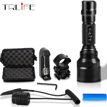 1 mode c8 led L2 Tactical flashlight cree XML T6 XM-L2 torch led Waterproof flash light mode 18650 Rechargeable battery nitecore p16tac 1000 lumens cree xm l2 u3 led tactical flashlight with 18650 rechargeable battery hunting search tactical torchs