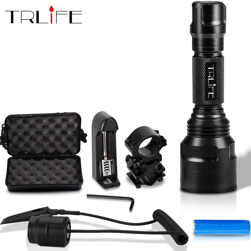 1 mode C8 LED Flashlight 5 Modes 10000lums Tactical FlashlightS T6/L2 Torch Waterproof Flash Light By 18650 Rechargeable battery