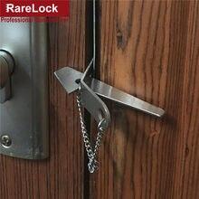 Fechadura da porta de aço inoxidável segurança ferrolho trava fechadura nenhuma instalação portátil conveniente d