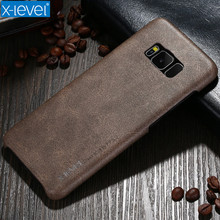 X-Level Case For Samsung Galaxy S8 Case Ultra Thin PU Back Case For Samsung Galaxy S8 Plus Cover Phone Cases Business Vintage