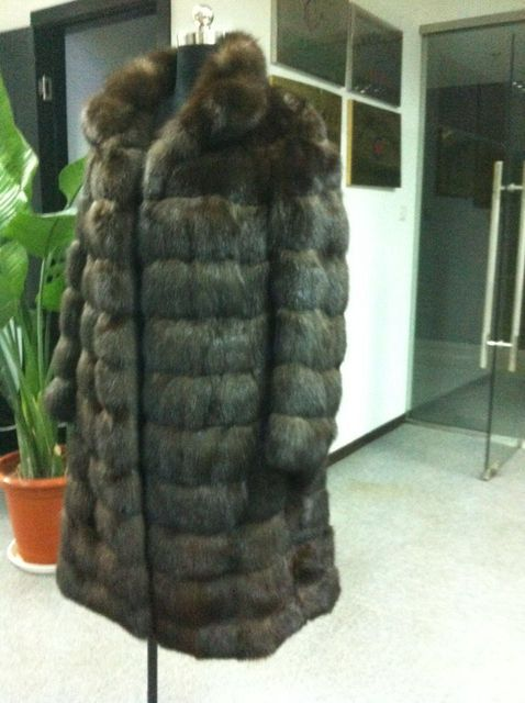 Arlenesain custom sable brown fur long coat  379