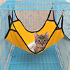 4 Colors Hanging Cat Hammock Beds Soft Fleece Hamster Rabbit Cage Beds 40*50cm 1