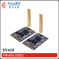 16pcs SV610 100mW TTL Interface 433MHz Wireless RF Module 16pcs Copper Spring Antenna 1pcs TTL USB
