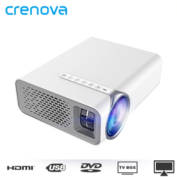 CRENOVA Lcd Projector For Smart Phone Projector Full HD 1920*1080p With HDMI USB VGA AV Home Theatre Movie Beamer Proyector
