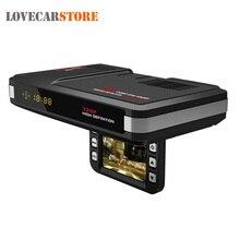 3 en 1 720 P HD DVR de Coches Cámara Grabadora de Vídeo Dash Auto Cam + Advertencia de Velocidad GPS + Radar Detector de Velocidad Láser para RU Detector