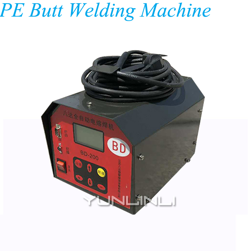 Electric PE Butt Welding Machine 220V Gas Pipeline Automatic Welding Machine Steel Mesh Skeleton Tube Hot Melt Machine BD 200