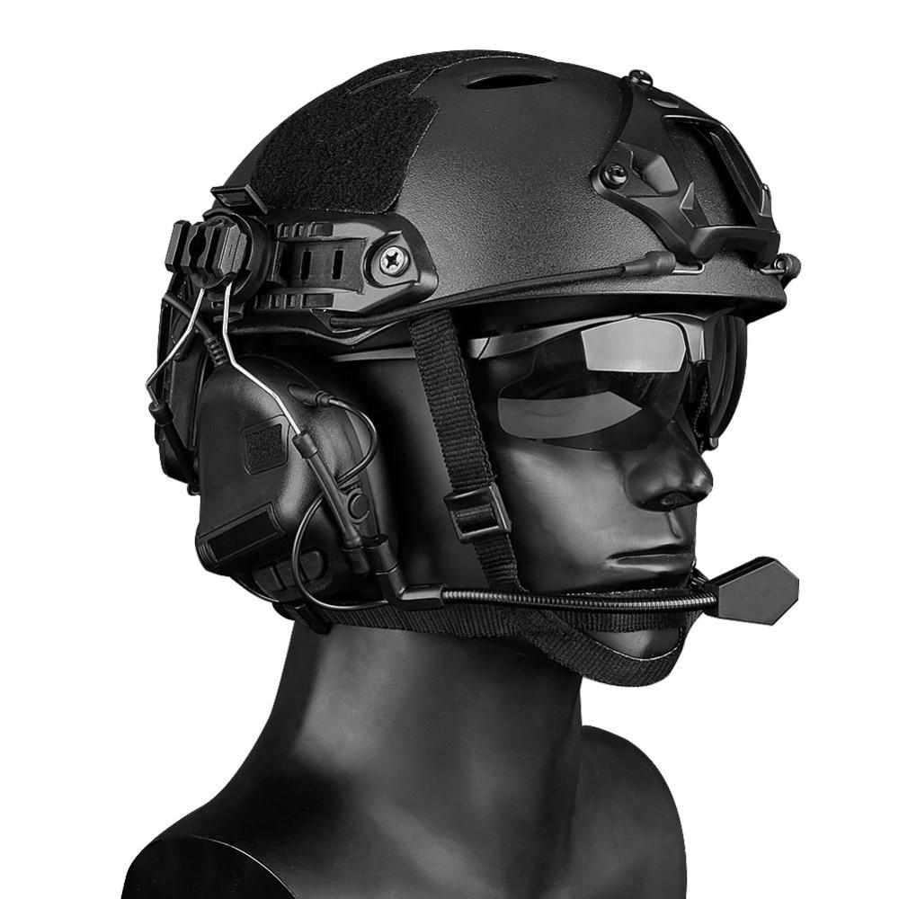 de ouvido com capacete ferroviário adaptador peltor