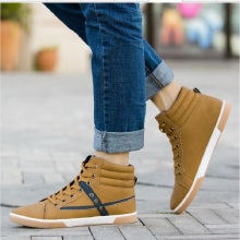 ha001 201Spring Men Shoes Mixed Colors Casual Shoes Lace up Flats Shoes Fashion Men Strip Casual