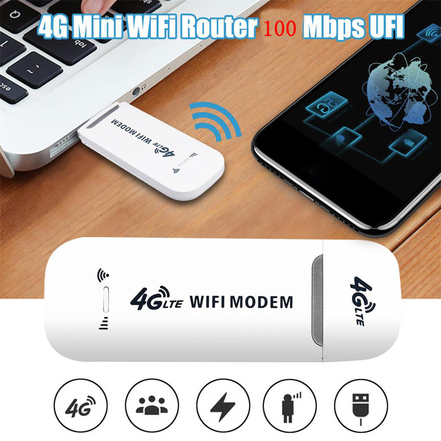 100Mbps Wireless USB 4G Wi-Fi Router