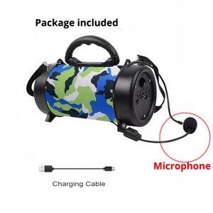 Image 2 - Hifi Bluetooth Speaker Wireless column MP3 Music Audio USB FM radio Loudspeaker Stereo Sound box outdoor Speaker For xiaomi+mic