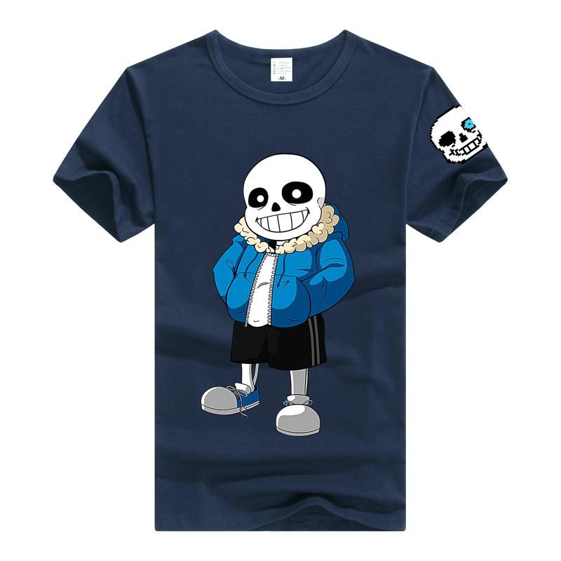 Undertale t shirt männer frauen t-shirt spiel clothing baumwolle t-shirt t sans papyrus cartoon