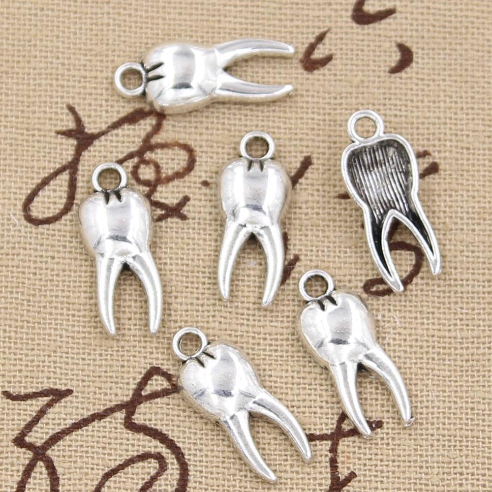 15 шт. очаровательные зубы зомби молярные 20x8 мм Античное изготовление кулон подходит, винтажный Тибетский серебристый цвет, DIY ювелирные изделия ручной работы|making pendant|charm antique silvertooth charm | АлиЭкспресс