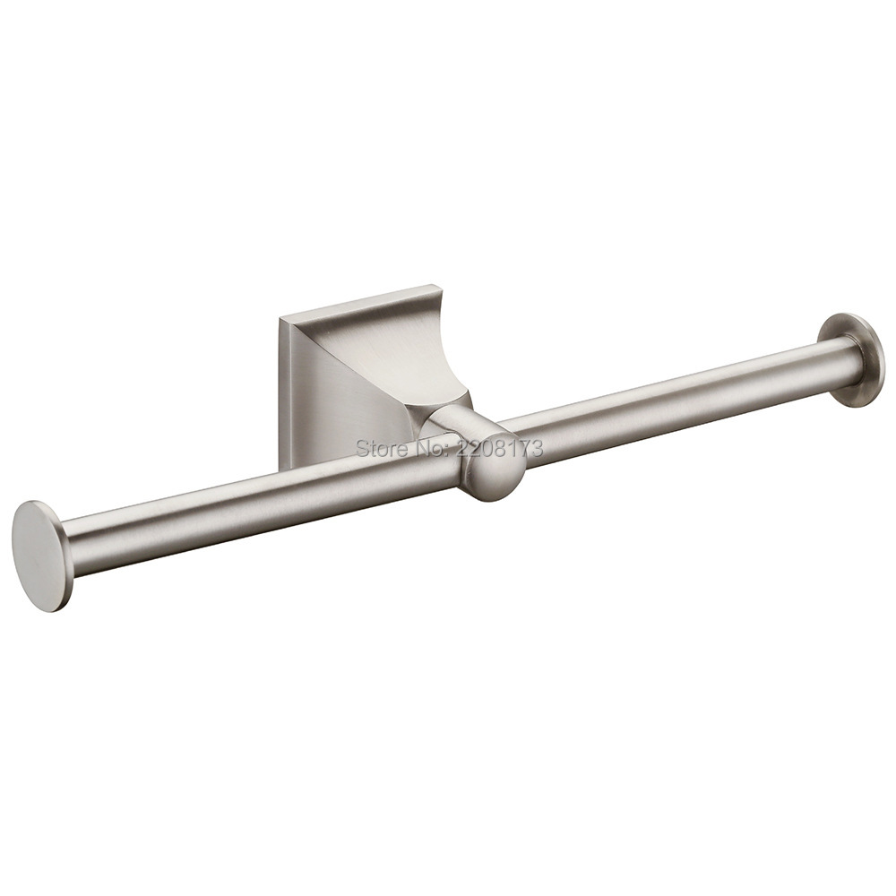 Smesiteli New Arrival High Quality 304 Stainless Steel Brushed Nickel Double Roll Toilet Paper Holder Wall Mount Tissue Hook nickel brushed stainless steel bathroom toilet paper holder wall mount