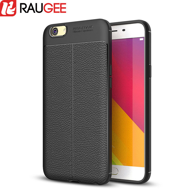 RAUGEE for OPPO A59 A59M Case Ultra Thin Phone Protective Back Cover Leather Texture Soft TPU Case for OPPO F1S fundas Anti-Slip