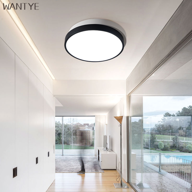 Modern LED Flush Mount Round Ceiling Light Kids room Bedroom Dining room Indoor Lighting Ceiling lamp Acrylic with Remote vemma acrylic minimalist modern led ceiling lamps kitchen bathroom bedroom balcony corridor lamp lighting study