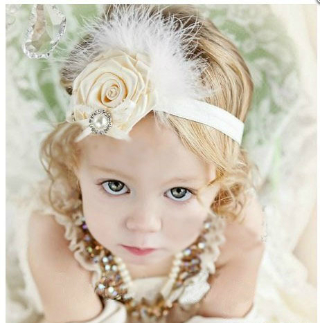 731873f3149 Baby Girl Kids Feather Flower Supreme Headband Bebe Infantil Headbands  Girls Hair Band Kids Accessories Headwear Photo Props -in Hair Accessories  from ...