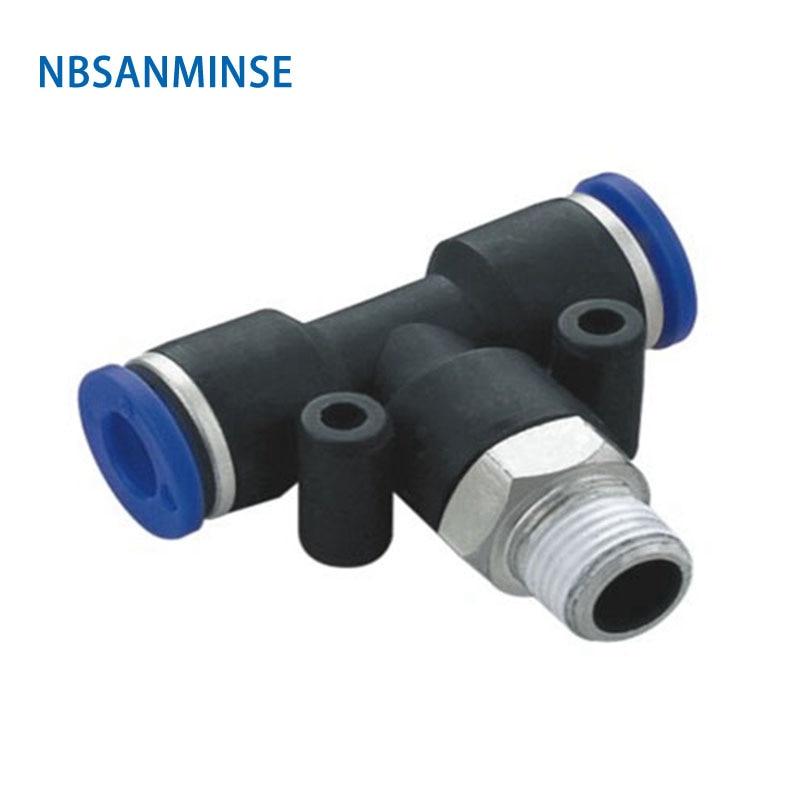 10pcs/Lot Pt4 M6 Tube Outside Diameter 4 Thread Size M6 Pneumatic Pipe Fitting Plastic Fitting Sanminse Sanmin