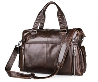 J M DJ M D Guareented Genuine Leather Men S Handbag Multi Function Laptop Bag Fashion