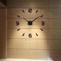 Home Decor DIY Quartz Clocks Watches 3D Real Big Wall Clock Sticker 2017ing