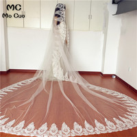 In Stock Ready High End New 3M Cathedral Long Wedding Veils Special Appliques Bridal Veil Wedding Accessories Bride Wedding Veil