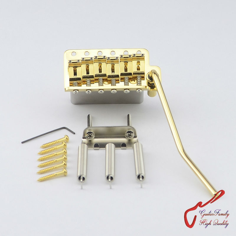 1 Set Genuine Original GOTOH 510TS-SF2 Vintage Style Electric Guitar Tremolo System Bridge  ( Gold ) MADE IN JAPAN 1 set genuine original gotoh 510ts sf1 2 points vintage style electric guitar tremolo system bridge gold made in japan