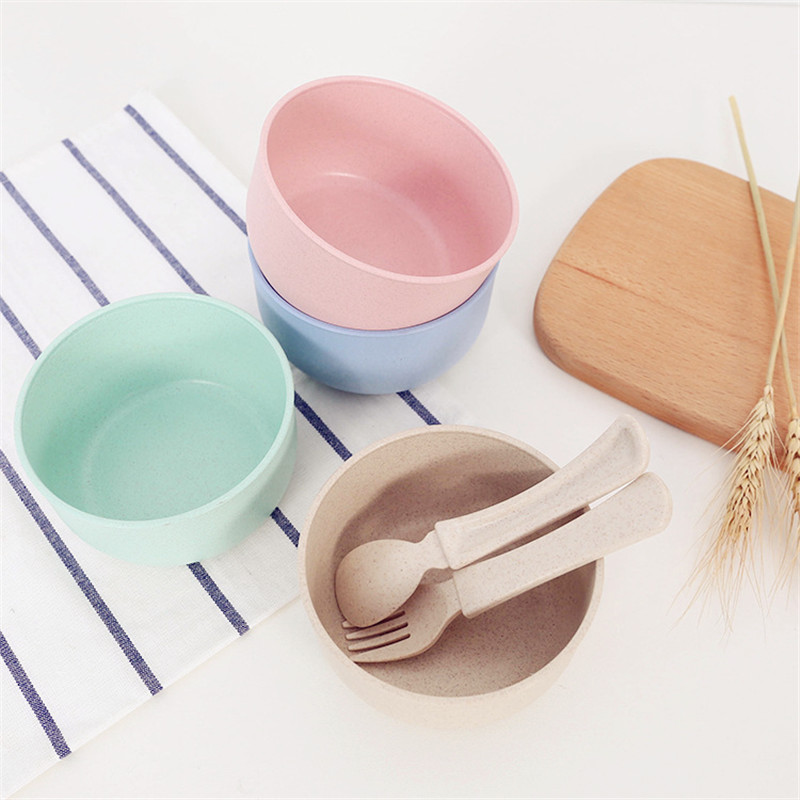 Durable High Quality Wheat Straw Bowl Multi-color Salad Saucer Ketchup Jam Durable Simple Cup Bowl Tableware Kitchen Tool