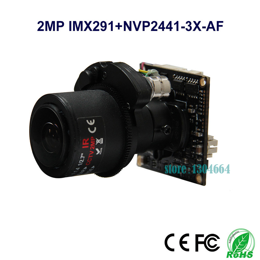 HD 2MP/1080P SONY IMX291 AUTO FOCUS Motorized Zoom 2.8-12mm Lens 4 in1 Module AHD/TVI/CVI/CVBS CCTV Camera Board free shipping