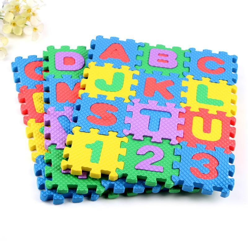 Hot Sale New 36pcs/set Baby Child Number Alphabet Puzzle Foam Maths Educational Mat Toy Puzzle Foam Floor Play Mats