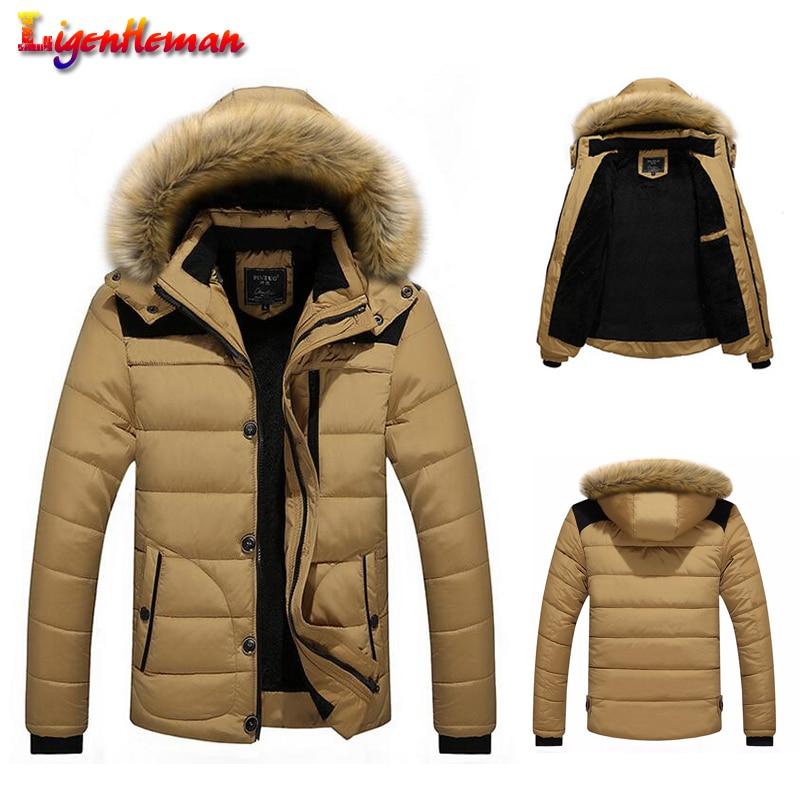 Winter New 2019 Men Hooded Casual Slim Parka 4 Colors Warm Jacket Arrival Men's Brand Coat Warm Down Plus Size M-5XL