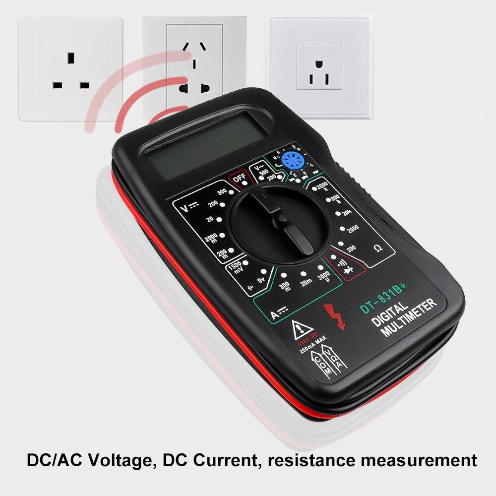 Digital Meter Multimeter Tester Voltmeter Dt-831b Transistor Diode Hfe Dmm