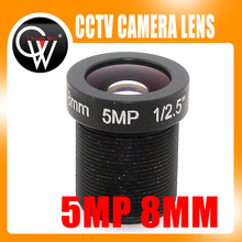 5MP hd 8mm CCTV Lens For Security cctv  IP Camera F2.0 M12 Mount Fixed Iris Format 1/2.5″